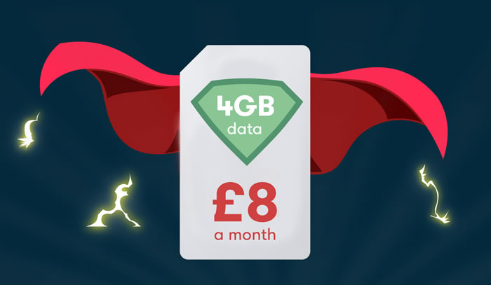iD 4GB SIM Offer £8 a month
