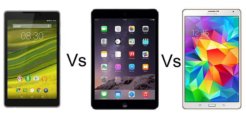 EE Harrier Tab vs Apple iPad mini 2 vs Samsung Galaxy Tab S 8.4