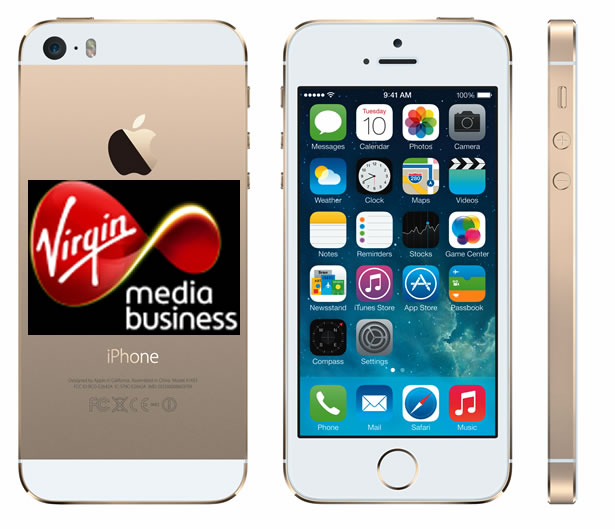 4G enabled phones like the Apple iPhone 5S coming to Virgin Media Business.