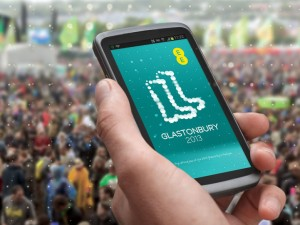 EE Launch Glastonbury 2013 App