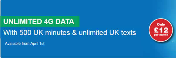 Lycamobile goes 4G with 'unlimited' data for £12 a month