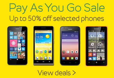EE pay as you go sale offers up to 50% off on selected handsets