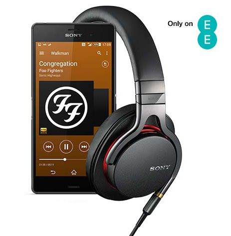 Get yourself a free pair of headphones and free music with a Sony Xperia Z3 or Z3 Compact on an EE plan.